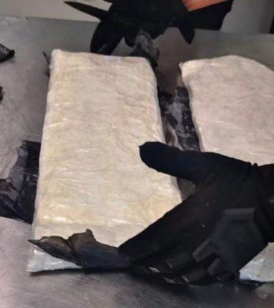 Detienen en el aeropuerto de Cancún a una mujer con dos paquetes de drogas sintéticas