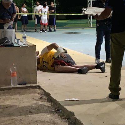 BALEAN A UN EXTRANJERO QUE JUGABA BALONCESTO EN PLAYA: Disparan contra un hombre en el fraccionamiento Bosque Real