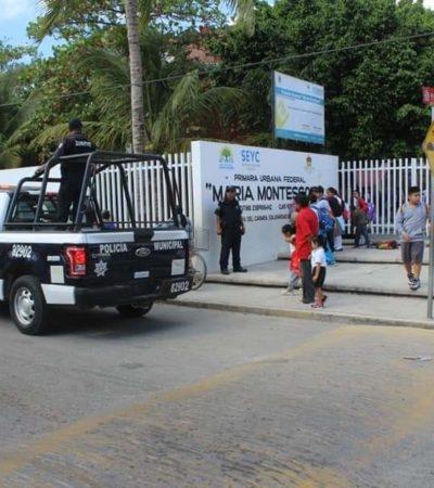 Autoridades educativas piden refuerzo policíaco para vigilar escuelas durante Semana Santa y evitar robos en Solidaridad