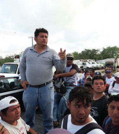 CONJURAN PARO DE LABORES EN EMPRESA RECOLECTORA DE BASURA: Tras seis horas de inactividad, trabajadores alcanzan acuerdo para revisar condiciones laborales y reanudar servicio en Cancún