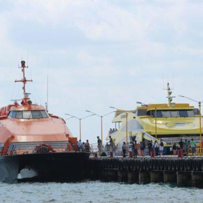 Cancelan cruces de ferrys a Cozumel y Playa del Carmen por mal tiempo; no se reportan daños ni incidentes