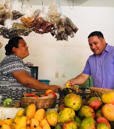 Recorre Ismael Sauceda Puerto Aventuras y Tulum en su segundo día de campaña; un diputado debe trabajar para la gente, dice