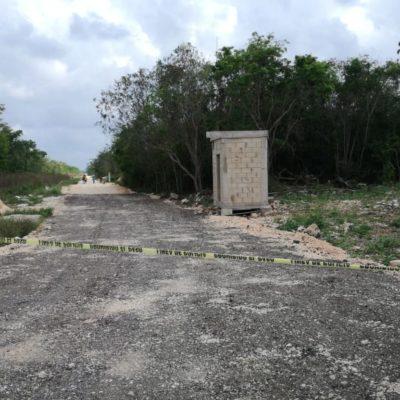 Hallan cuerpo en estado de putrefacción de una persona ejecutada a balazos en las inmediaciones de la colonia Tres Reyes de Cancún