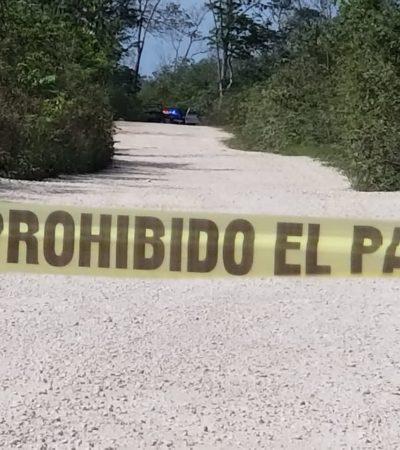 Hallan cuerpo embolsado a un costado del libramiento de la autopista Cancún-Mérida