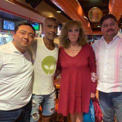 Finalizan vacaciones de Romario en Cancún y la Riviera Maya