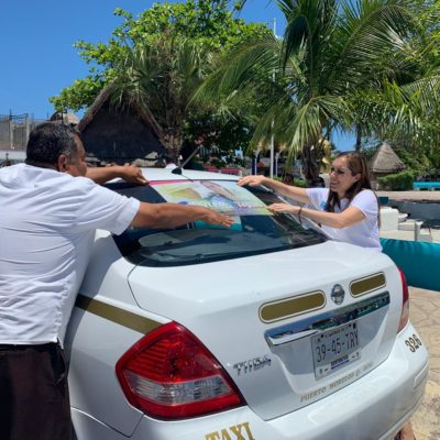 Taxistas de Puerto Morelos respaldan a Atenea Gómez