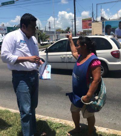 """Pide 'El Chino' Zelaya limpiar a Chetumal """"de la improvisación que nos frena"""""""