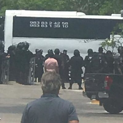 Trascendió que habría operativo de desalojo en Tulum, se movilizaron cerca de cien policías