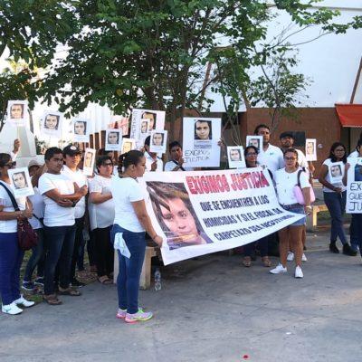 Exigen destitución de Fiscal durante manifestación de ciudadanos para exigir justicia por secuestro y asesinato de un joven empresario chetumaleño
