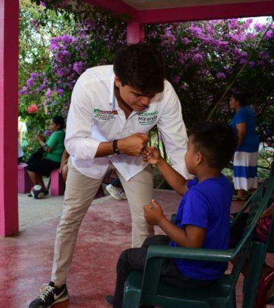 Ofrece Gustavo Miranda reforzar desde el Congreso programas de protección a la niñez en Quintana Roo