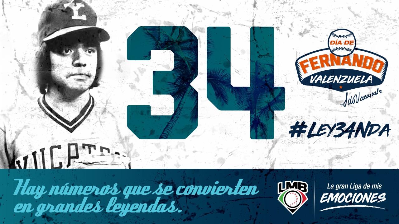 TRIBUTO A UN GRANDE DEL BEISBOL: Anuncia la LMB el retiro del número 34 de Fernando Valenzuela