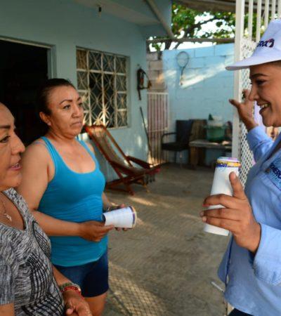Pide Karla Romero a la ciudadanía un voto de confianza y asegura que trabajará por Cancún