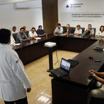 Realizan primera reunión para conformar el Reglamento de Salud Municipal en Cozumel