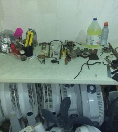 Encuentran 'tianguis' en cárcel de Cozumel
