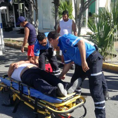 FOTOS | Motociclista imprudente derrapa sobre avenida CTM y se lesiona de gravedad