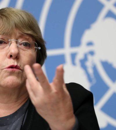 ALTA COMISIONADA DE LA ONU PARA LOS DH: Se va Michelle Bachelet sorprendida por cifras de horror en México