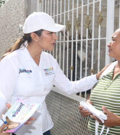 Vecinos de la colonia Proterritorio dan voto de confianza a dos mujeres; Claudette González y Mercedes Rodríguez exponen propuestas para hacer de Chetumal un mejor lugar