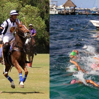 ES PUERTO MORELOS SEDE DE EVENTOS DE PRIMER NIVEL: Este sábado se celebraron el Campeonato Nacional de Aguas Abiertas 2019 y el 5º Abierto de Polo Caribe Mexicano