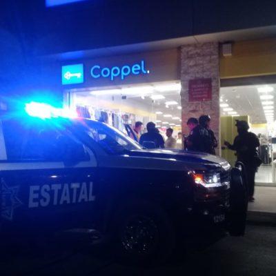 Detienen a hombres que habían robado en tienda Coppel de la Multiplaza 'Arco Norte' en Cancún