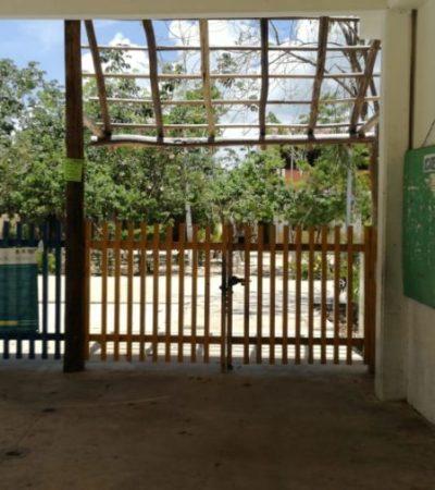 Roban cableado eléctrico de la primaria Xcaret en Villas del Sol y dejan sin clases a más de 700 alumnos