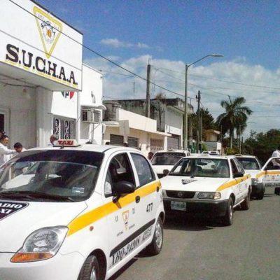 Integrantes del SUCHAA se preparan para exigirle a Carlos Joaquín que apruebe el aumento del servicio de taxi en Chetumal