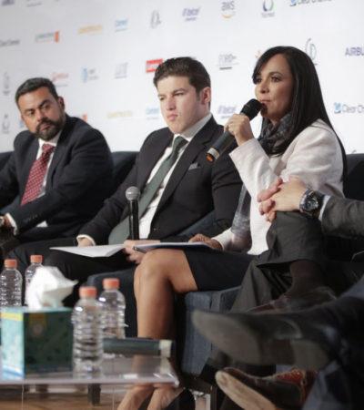 Alcaldes deben dar golpes de precisión para salir adelante, señala Laura Fernández en el octavo foro Alcaldes hablando con alcaldes