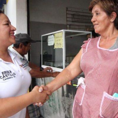 Movimiento Ciudadano denuncia a Erika Castillo y a la coalición Morena-PT-PVEM por presunta entrega de despensa en el Distrito 6