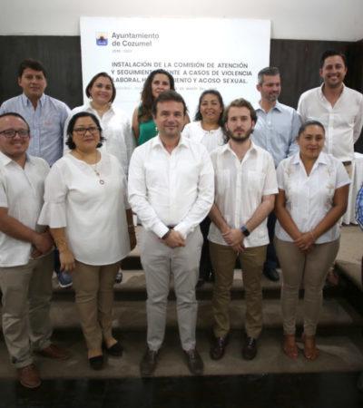 Instalan la Comisión de atención y seguimiento frente a casos de violencia laboral, hostigamiento y acoso sexual en Cozumel