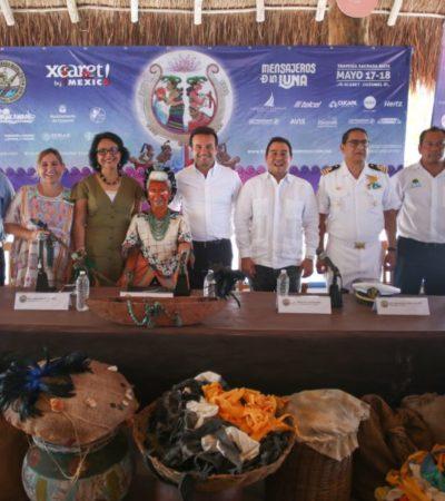 Presentan detalles de la llamada 'Travesía Sagrada Maya' que se realizará el 17 y 18 de mayo entre Playa del Carmen y Cozumel