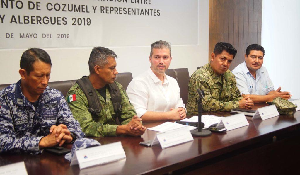 Ayuntamiento de Cozumel firma convenio de colaboración con representantes de refugios y albergues para garantizar la seguridad de ciudadanos durante la temporada de huracanes 2019