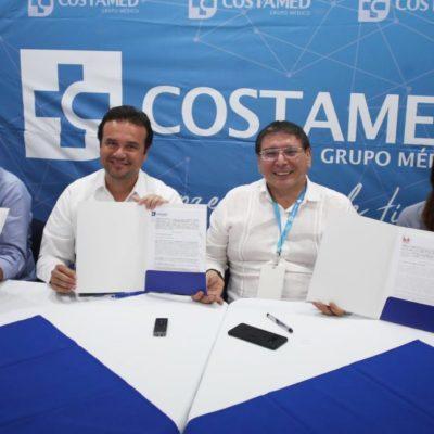 Gobierno de Cozumel firma convenio con Costamed para ofrecer precios preferentes a trabajadores del Ayuntamiento