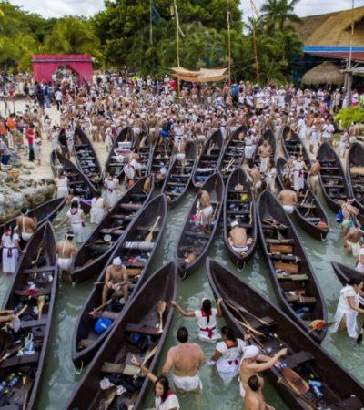 El gobierno de Cozumel recibe a canoeros Travesía Sagrada Maya 2019 y fortalece lazos de cooperación a favor del rescate de la cultura y las tradiciones