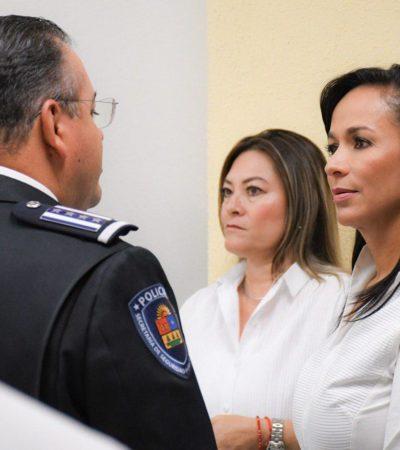 """""""Es momento de dar prioridad al trabajo en equipo en materia de seguridad"""", dice Laura Fernández al sumarse al Mando Único para Puerto Morelos"""