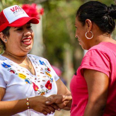 """""""Yo sí voy a regresar a las colonias, aquí me verán siempre"""", asegura la candidata Valeria Aragón"""