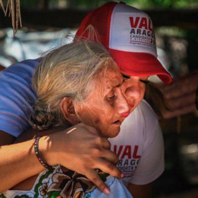 Valeria Aragón agradece el respaldo de la gente de Leona Vicario