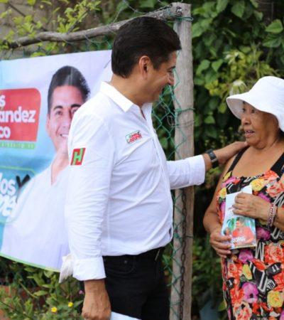 """""""Cozumel quiere resultados que incluyan seguridad, economía, mejores servicios públicos y de salud"""", afirma Carlos Hernández Blanco"""