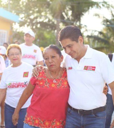 Agradece Carlos Hernández Blanco la hospitalidad y confianza de los cozumeleños durante su campaña