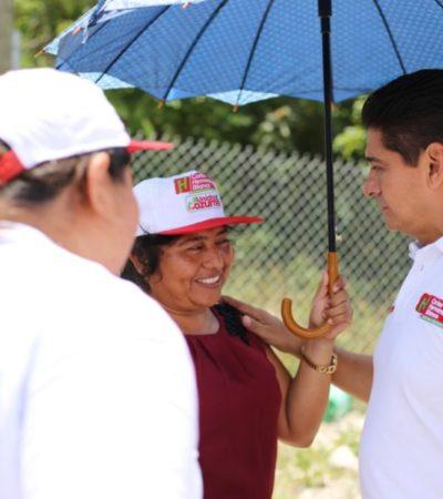 """""""Gestionaré recursos para implementar un programa que beneficie en la alimentación, vivienda, educación y salud de los cozumeleños"""", asegura Carlos Hernández"""