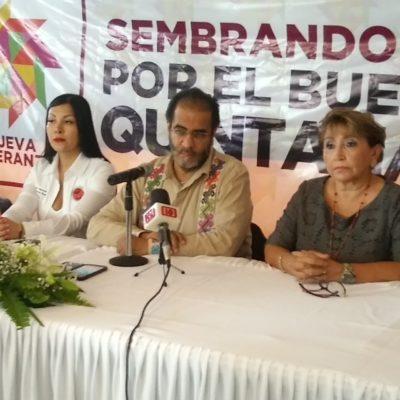 Llega Bejarano a Chetumal para promover el voto a favor de los candidatos de Morena y sus aliados