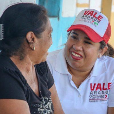 Ofrece Vale Aragón mejorar los servicios básicos en las comunidades alejadas