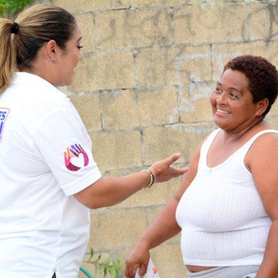 """""""La ciudadanía pide que la política sea de puertas abiertas"""", dice Karla Romero durante recorrido por la Región 233"""