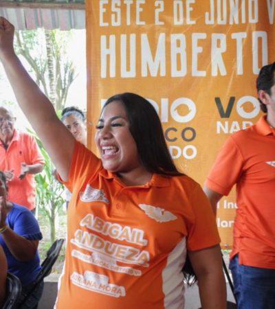 Líder nacional de Movimiento Ciudadano respalda a la candidata Abi Andueza