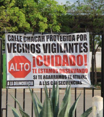 """""""¡SI TE AGARRAMOS TE LINCHAMOS!"""": Se multiplican advertencias contra ladrones en colonias de Cancún"""