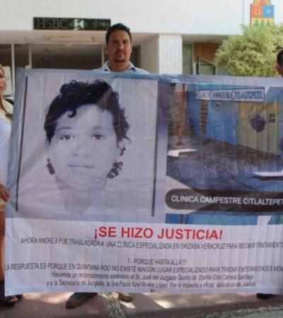 Activistas defensores de Andrea, piden al gobierno que se construya un hospital psiquiátrico en Quintana Roo
