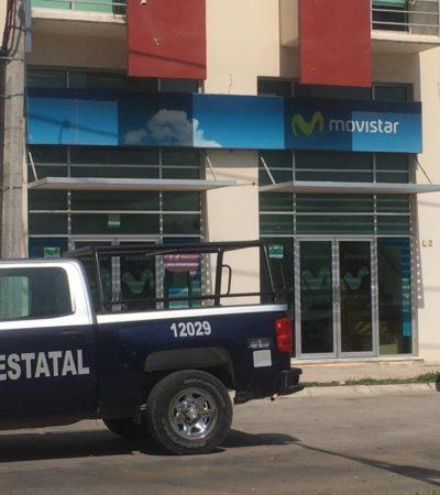 Asaltan tienda Movistar en Chetumal