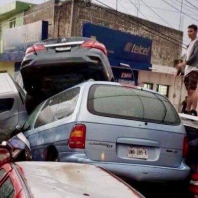 VIDEOS | Tromba causa estragos en Matehuala, SLP