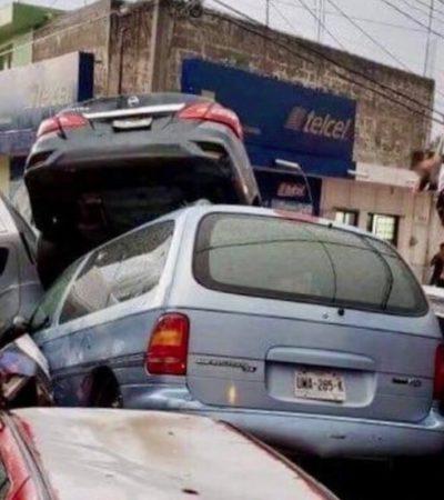VIDEOS   Tromba causa estragos en Matehuala, SLP