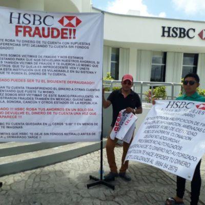 Se suman más cuentahabientes a protestas contra HSBC por quitarles supuestamente parte de sus ahorros de manera fraudulenta