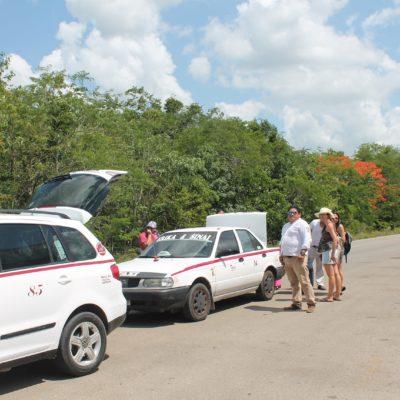 Segundo día de bloqueo taxista a turistas desde Holbox
