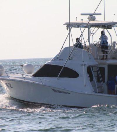 """Con la participación de 50 embarcaciones, inicia el torneo de pesca """"Capitán Ferrat 2019"""" en Cancún"""